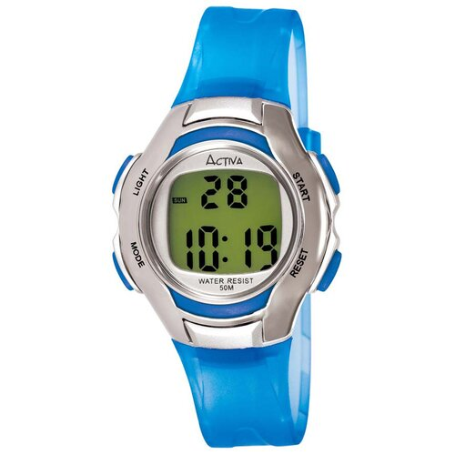 Women's Digital Multi-Function Watch in Blue Transparent