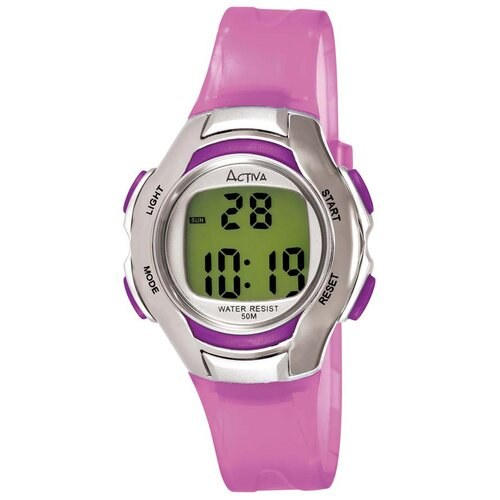 Women's Digital Multi-Function Watch in Lilac Transparent