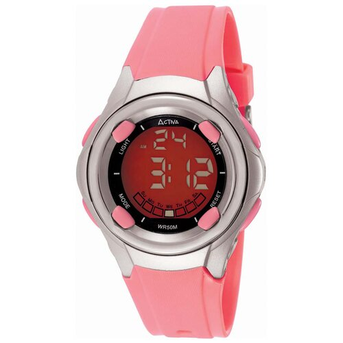 Activa Watches Women's Digital Multi-Function Watch in Pink Rubber