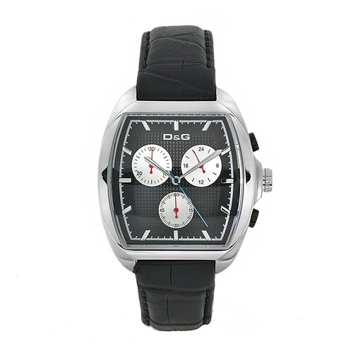 Men's Martin Watch with Black Leather Strap