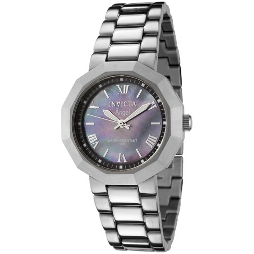 Women's Angel Watch in Black Mother of Pearl