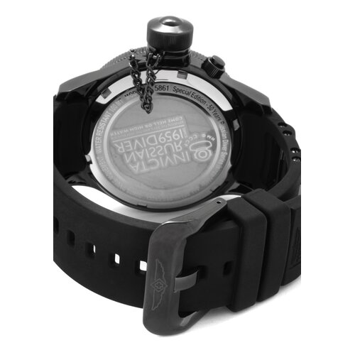 Invicta Men's Russian Watch in Black Rubber