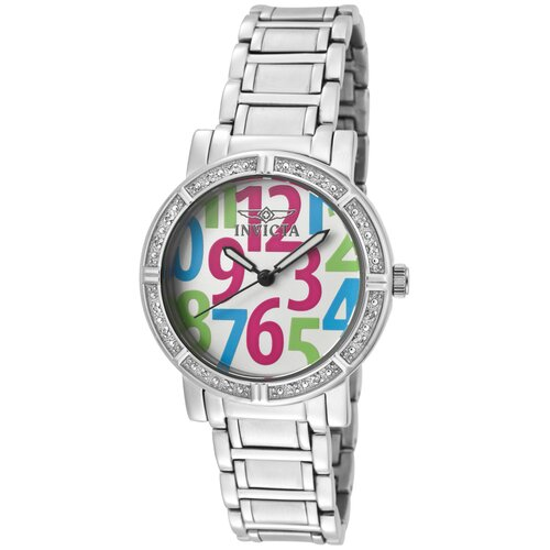 Women's Wildflower Diamond Dial Round Watch