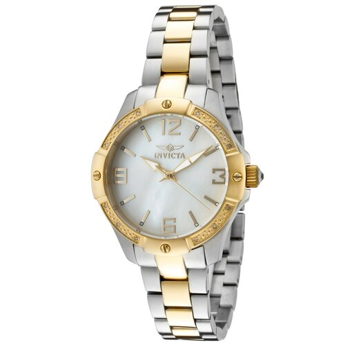 Women's Angel MOP Dial Two Tone Round Watch