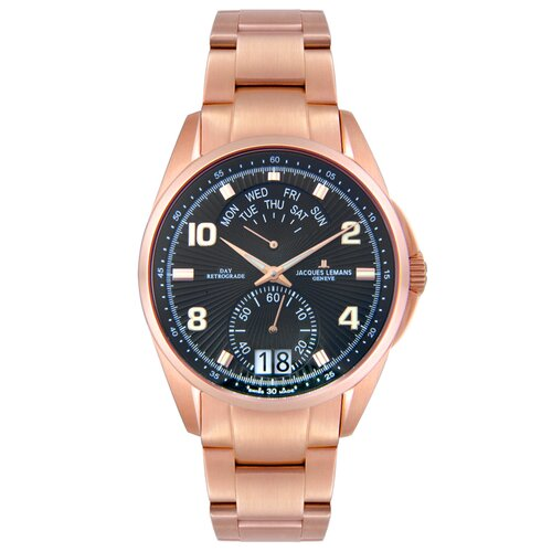 Men's Genève Watch in Rose Gold Plated