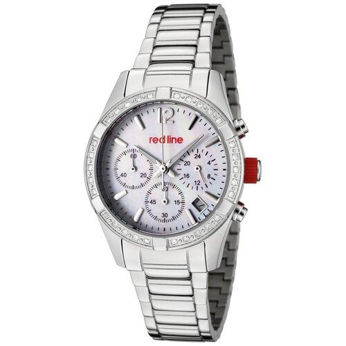 Women's Wind Chronograph Diamond Stainless Steel Watch