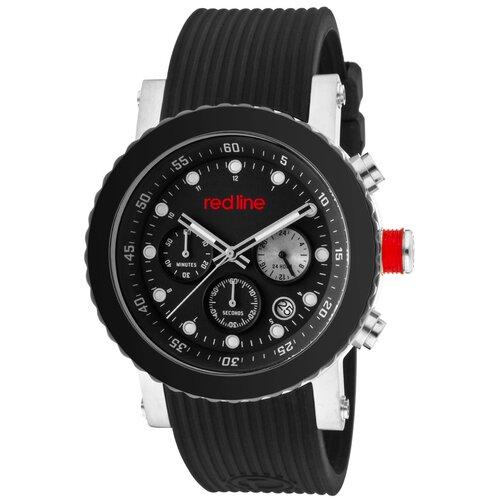 Red Line Men's Compressor Chronograph Silicone Round Watch
