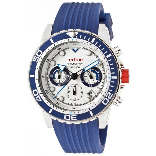 Red Line Men's Piston Chronograph Silicone Round Watch
