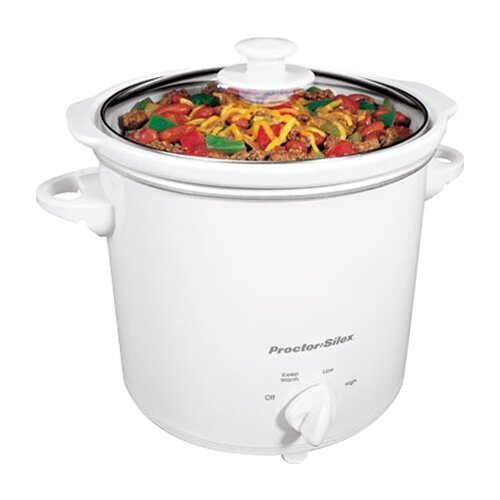 4-Quart Round Crock Pot
