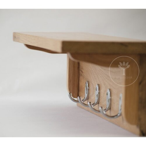 AlpenHome Borgard Wall Mounted Shelf With Hooks Amp Reviews