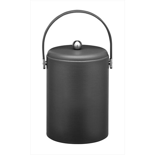 Kraftware Soho 5 Qt Leatherette Ice Bucket in Black