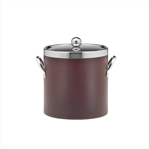 Soho 3 Qt Leatherette Ice Bucket in Claret