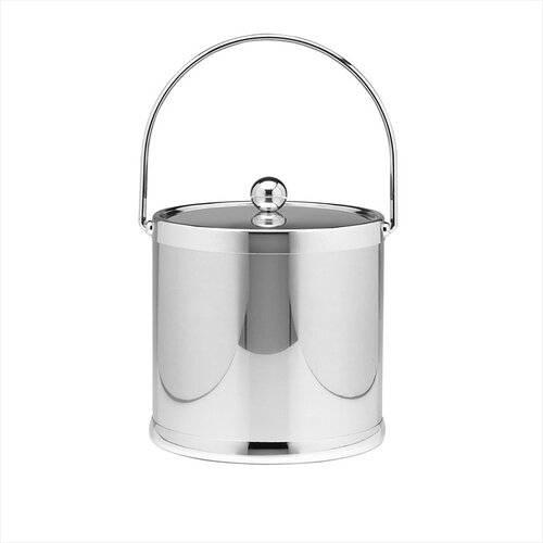 Kraftware Americano 3 Qt Ice Bucket with Bale Handle in Chrome