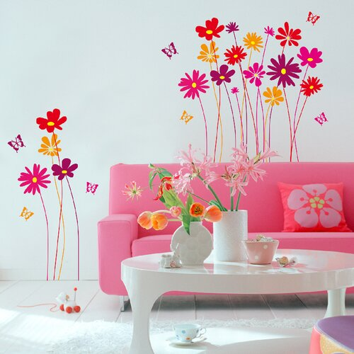 Euro Flower Meadow Wall Decal