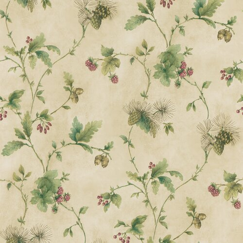Brewster Home Fashions Northwoods Pine Cone Trail Wallpaper