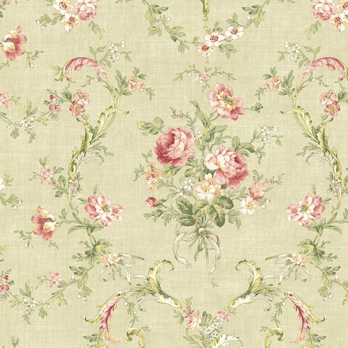 Brewster Home Fashions Willow Cottage Floral Bouquet Wallpaper