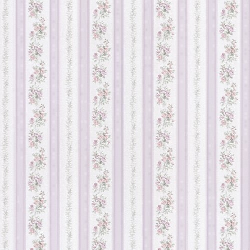 Brewster Home Fashions Satin Rose Linen Floral Stripe Wallpaper
