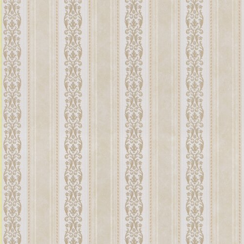 Brewster Home Fashions Satin Rose Scroll Stripe Wallpaper