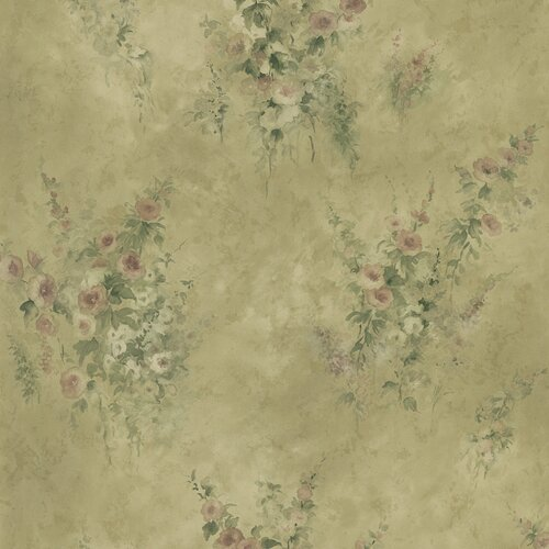 Brewster Home Fashions Mirage Signature V Floral Embossed Wallpaper