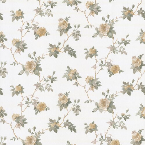 Brewster Home Fashions Satin Rose Magnolia Trail Embossed Wallpaper