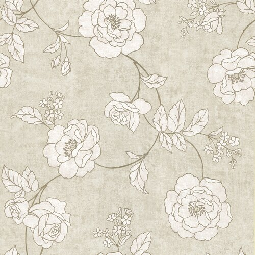 Brewster Home Fashions Serene Rose Wallpaper