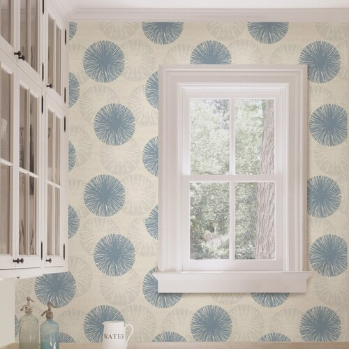 Brewster Home Fashions Naturale Cayman Contemporary Raffia Floral Wallpaper