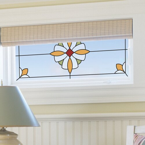 Brewster Home Fashions Essex Stained Glass Appliqué Window Sticker