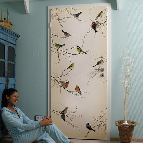 Brewster home fashions komar birds 2 panel wall mural for Brewster wall mural