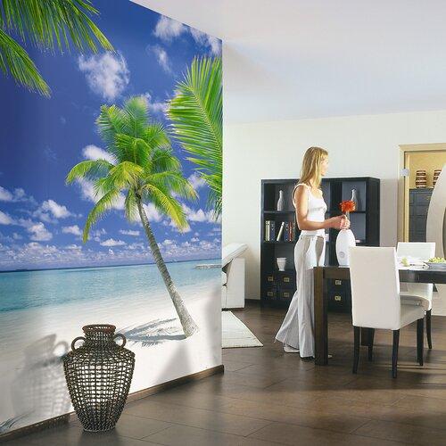 Brewster Home Fashions Komar Ari Atoll 4-Panel Wall Mural