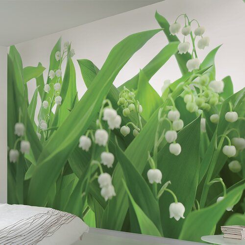 Komar Lilies of the Valley 8-Panel Wall Mural