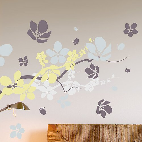 Euro Branches and Flowers Wall Decal