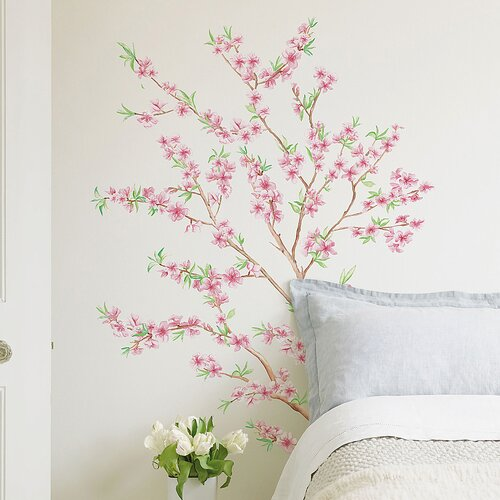 Euro Peach Branch Wall Decal