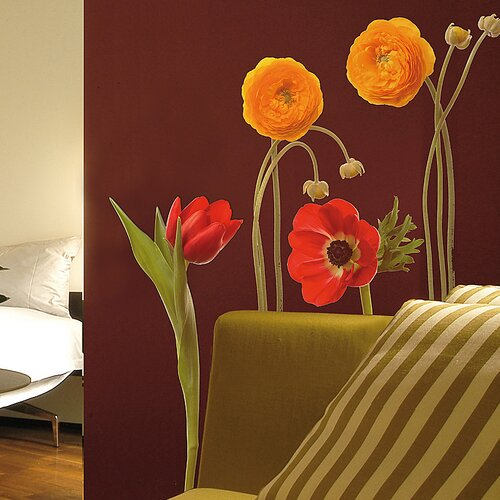 Euro Wild Flowers Wall Decal
