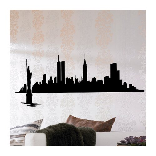 Euro New York Skyline Wall Decal