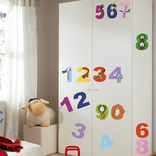 Euro Numbers Wall Decal
