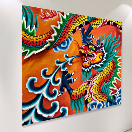 Ideal Decor Dragon Wall Mural