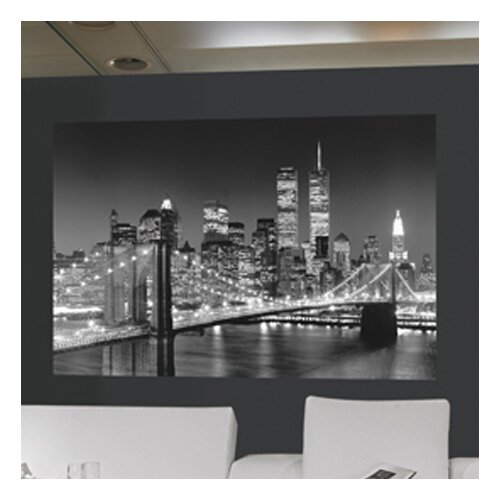 Brewster home fashions ideal decor brooklyn bridge wall for Brewster home fashions wall mural