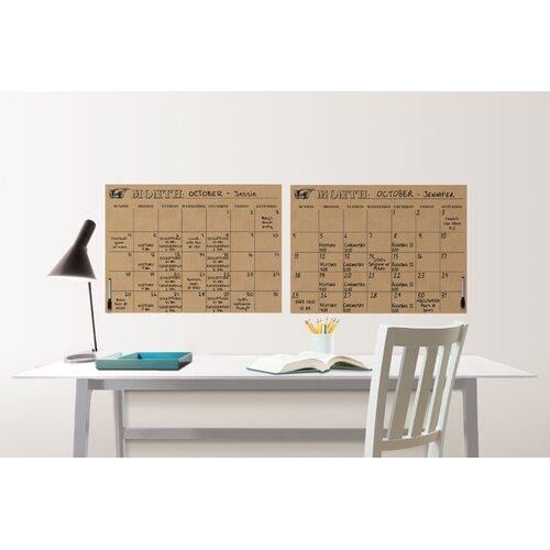 WallPops Kraft Calendar Chalkboard Wall Decal