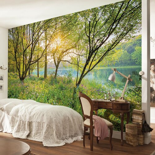 Brewster home fashions komar spring lake wall mural for Brewster birch wall mural