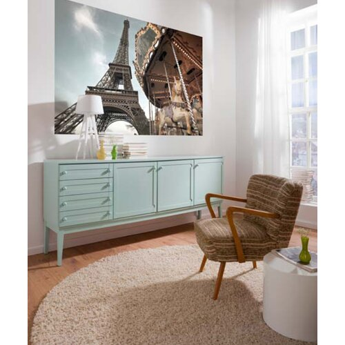Brewster Home Fashions Komar Carrousel de Paris 1-Panel Wall Mural