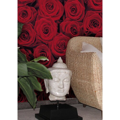 Brewster Home Fashions Komar Roses 4-Panel Wall Mural