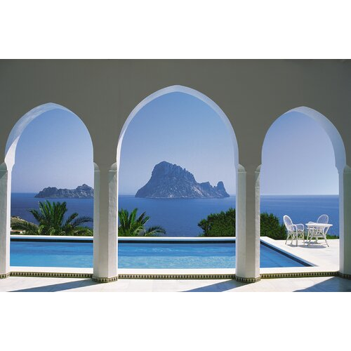 Komar Pool and Arches, Mallorca 8-Panel Wall Mural