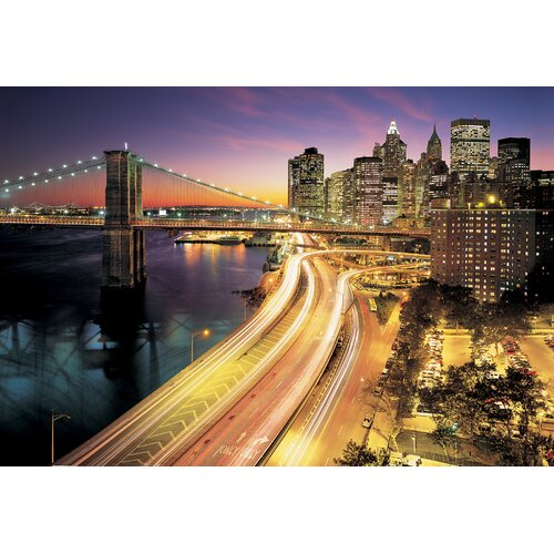Brewster Home Fashions Komar NYC Lights 8-Panel Wall Mural
