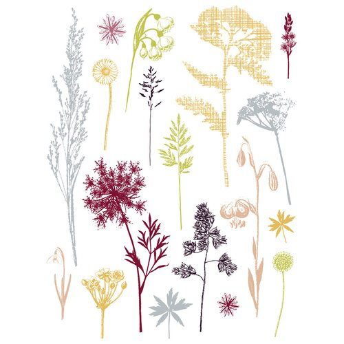Brewster Home Fashions Spirit Field of Herbs Wall Decal