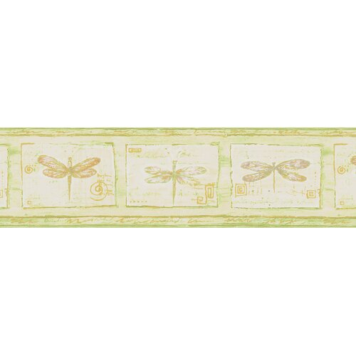 Brewster Home Fashions Kitchen and Bath Resource II Dragonfly Cameo Border Wallpaper