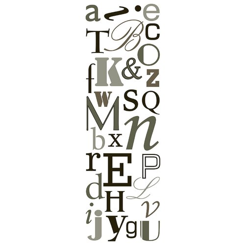 Brewster Home Fashions Euro Alphabet Type Wall Decal