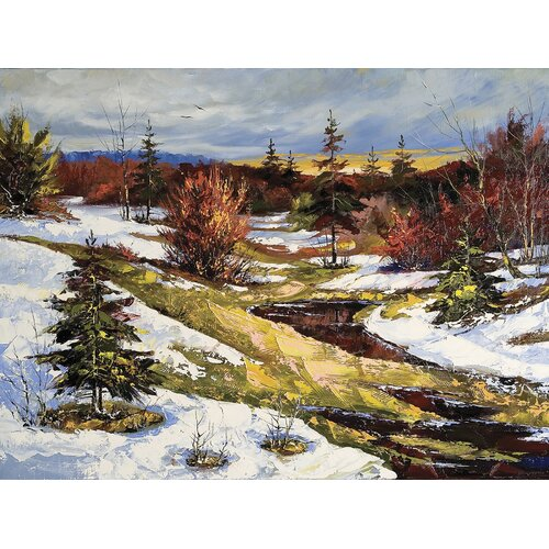 Brewster Home Fashions Ultimate Spring's Thaw in Watercolor Wall Mural