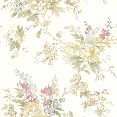 Brewster Home Fashions La Belle Maison Lush Floral Trail Wallpaper