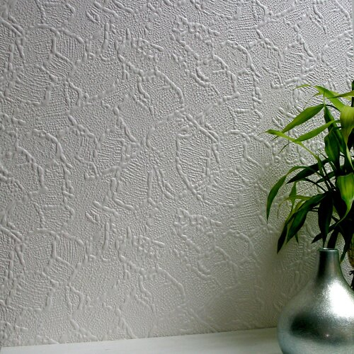 Brewster Home Fashions Anaglypta Paintable Frazer Supaglypta Abstract Embossed Wallpaper