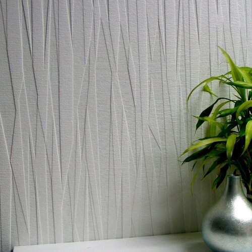 Brewster home fashions anaglypta paintable folded paper for Modern textured wallpaper